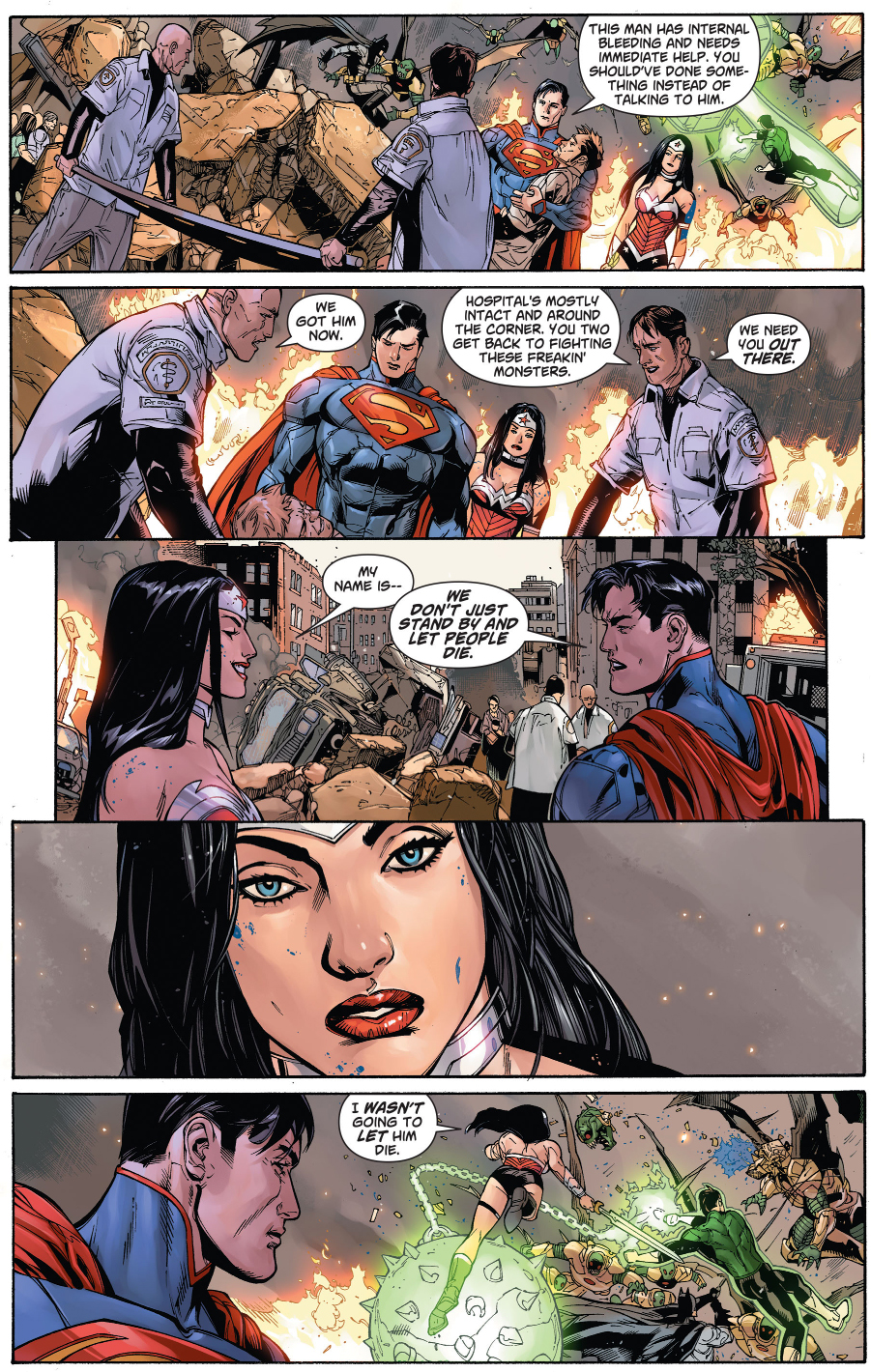Wonder Woman And Superman's First Meeting (New 52)