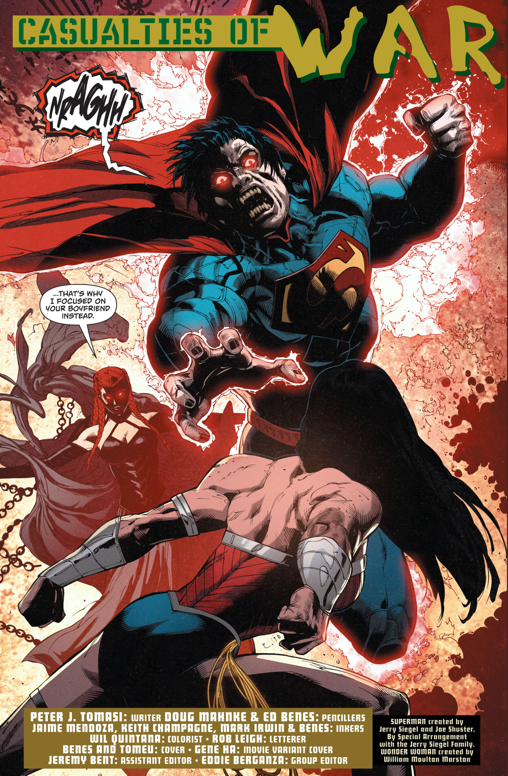 Wonder Woman VS A Superman Corrupted by Circe