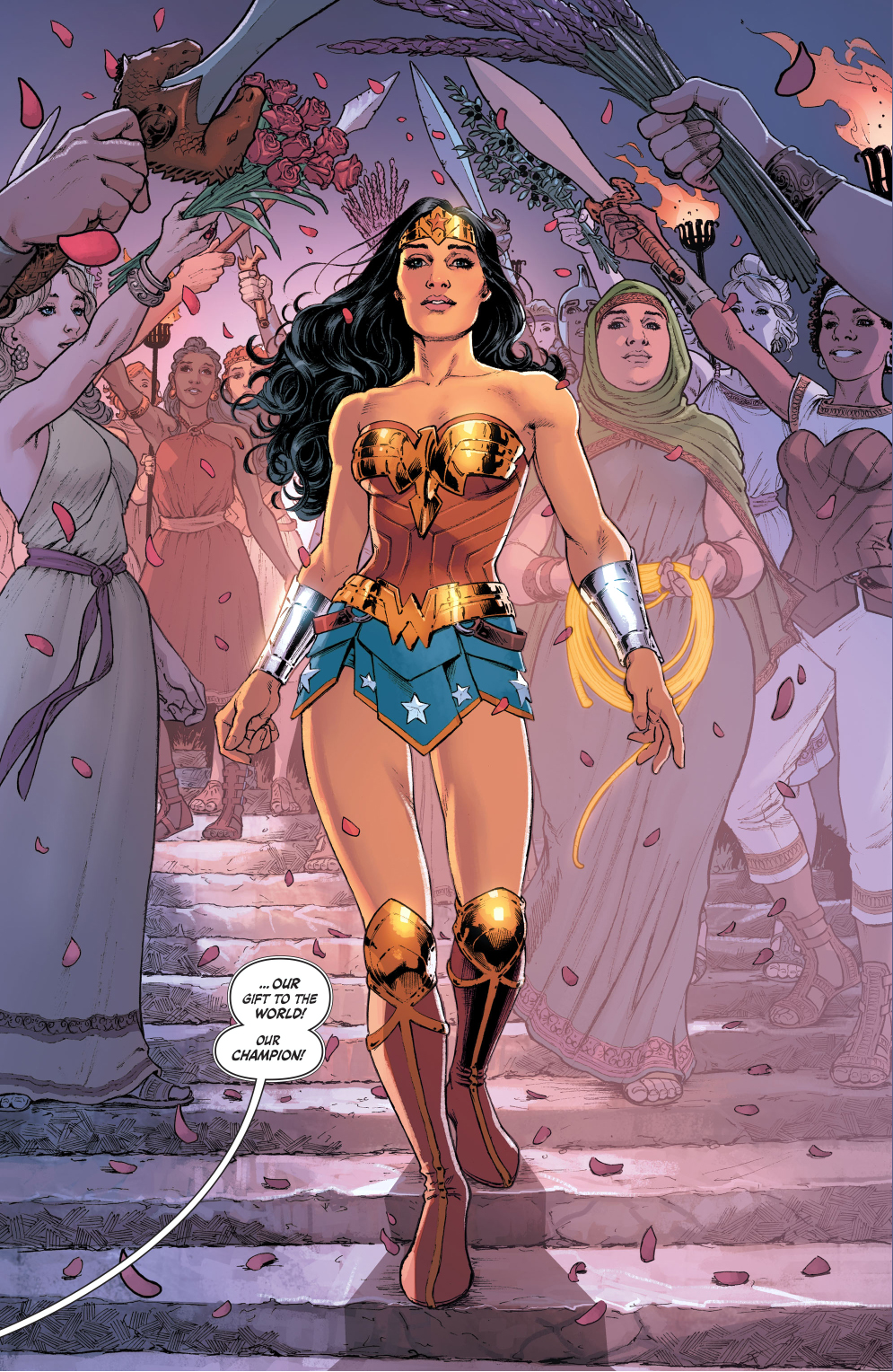 wonder woman's sendoff from the amazons