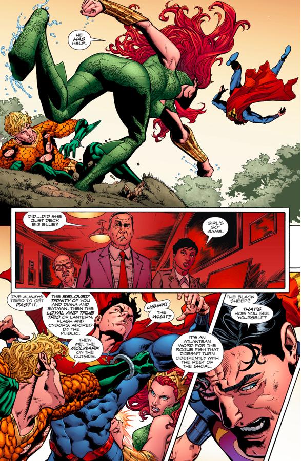 Aquaman And Mera VS Superman (Rebirth)