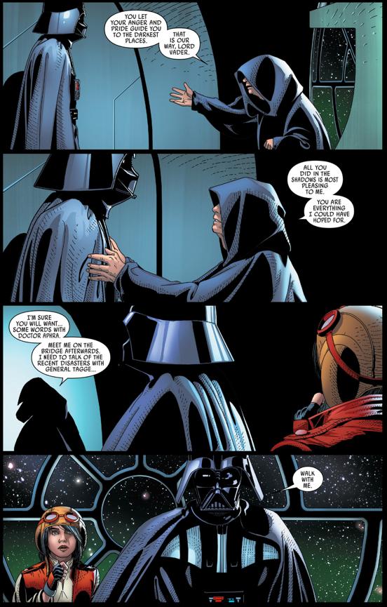 Doctor Aphra Betrays Darth Vader To The Emperor