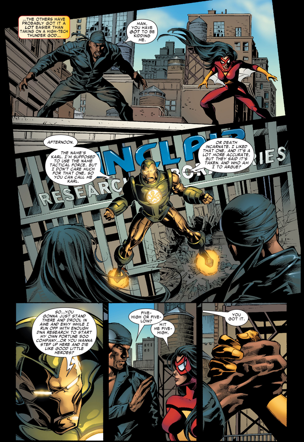 luke-cage-and-spider-woman-vs-tactical-force