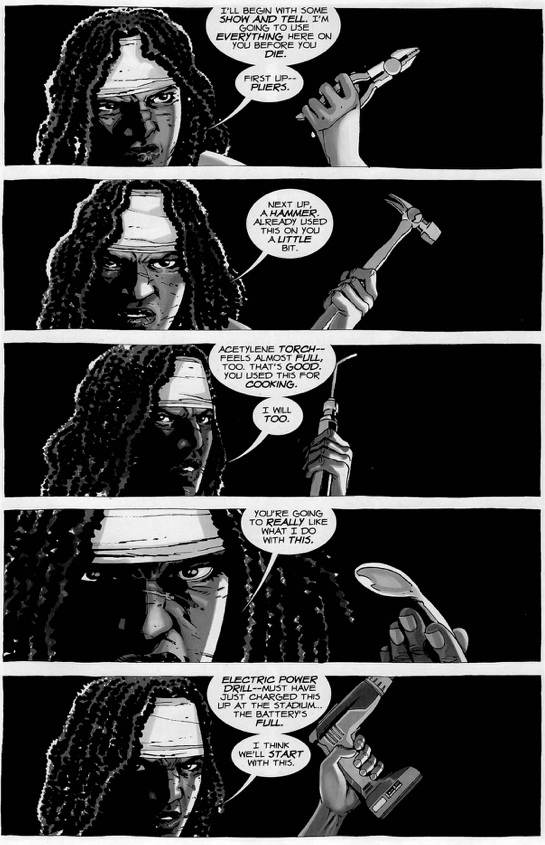 Michonne Tortures The Governor