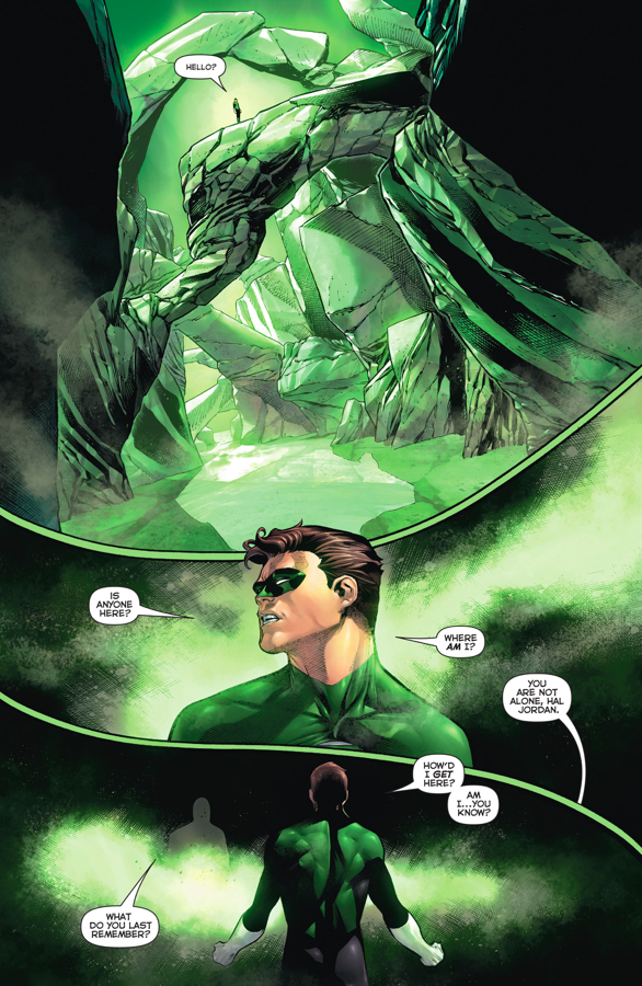 Hal Jordan Meets Abin Sur In The Emerald Space