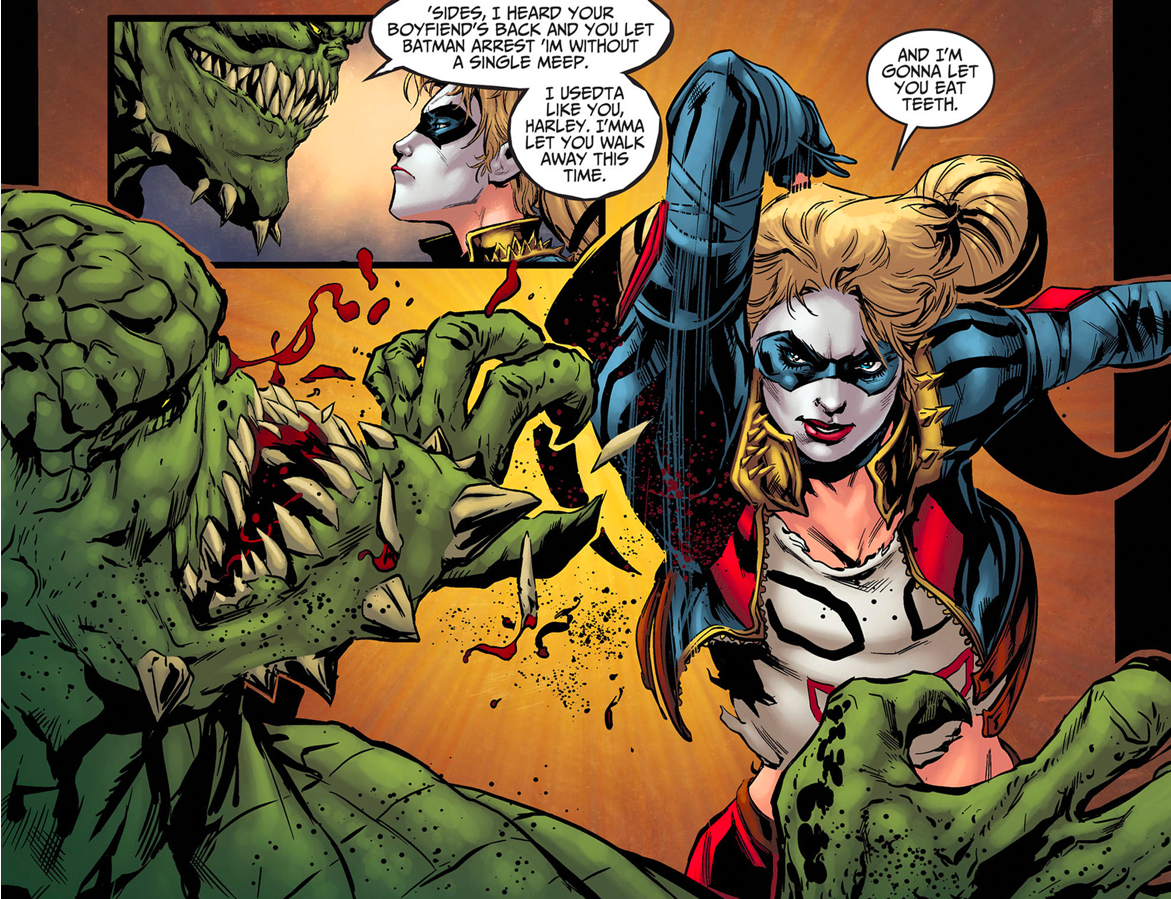 Harley Quinn VS Killer Croc (Injustice Gods Among Us)
