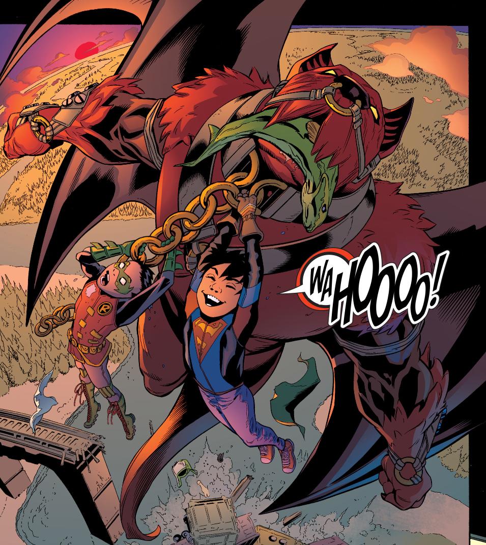 Superboy, Robin And Goliath