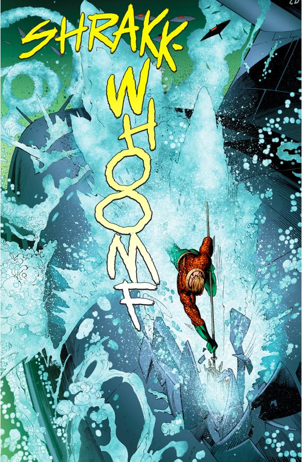 Aquaman Destroys A N.E.M.O Submarine