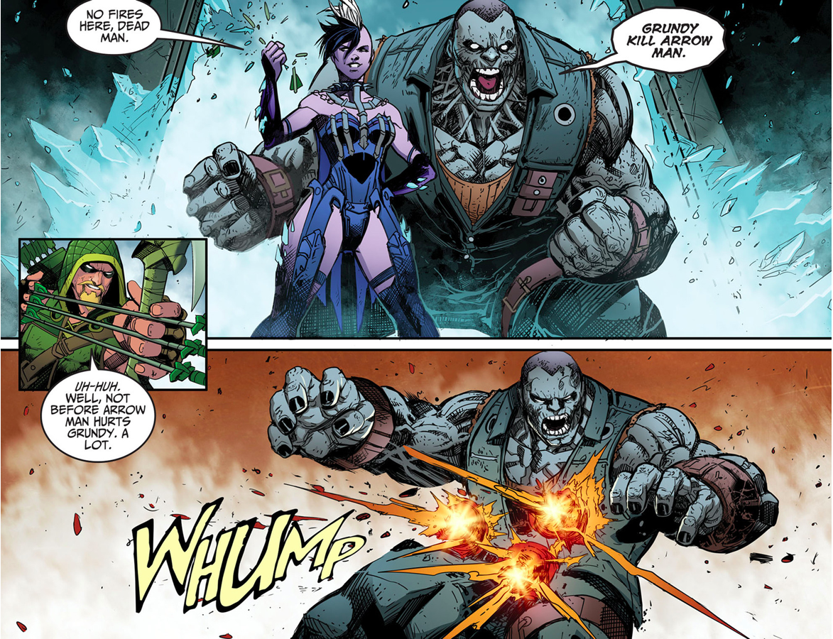 Green Arrow VS Solomon Grundy (Injustice Gods Among Us)