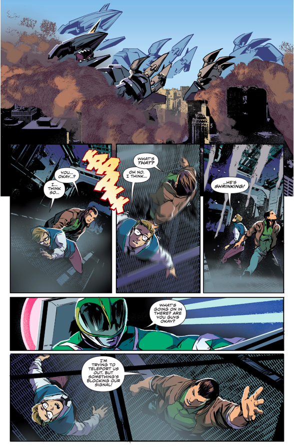 Green Ranger And Blue Ranger Defeated The Black Dragon