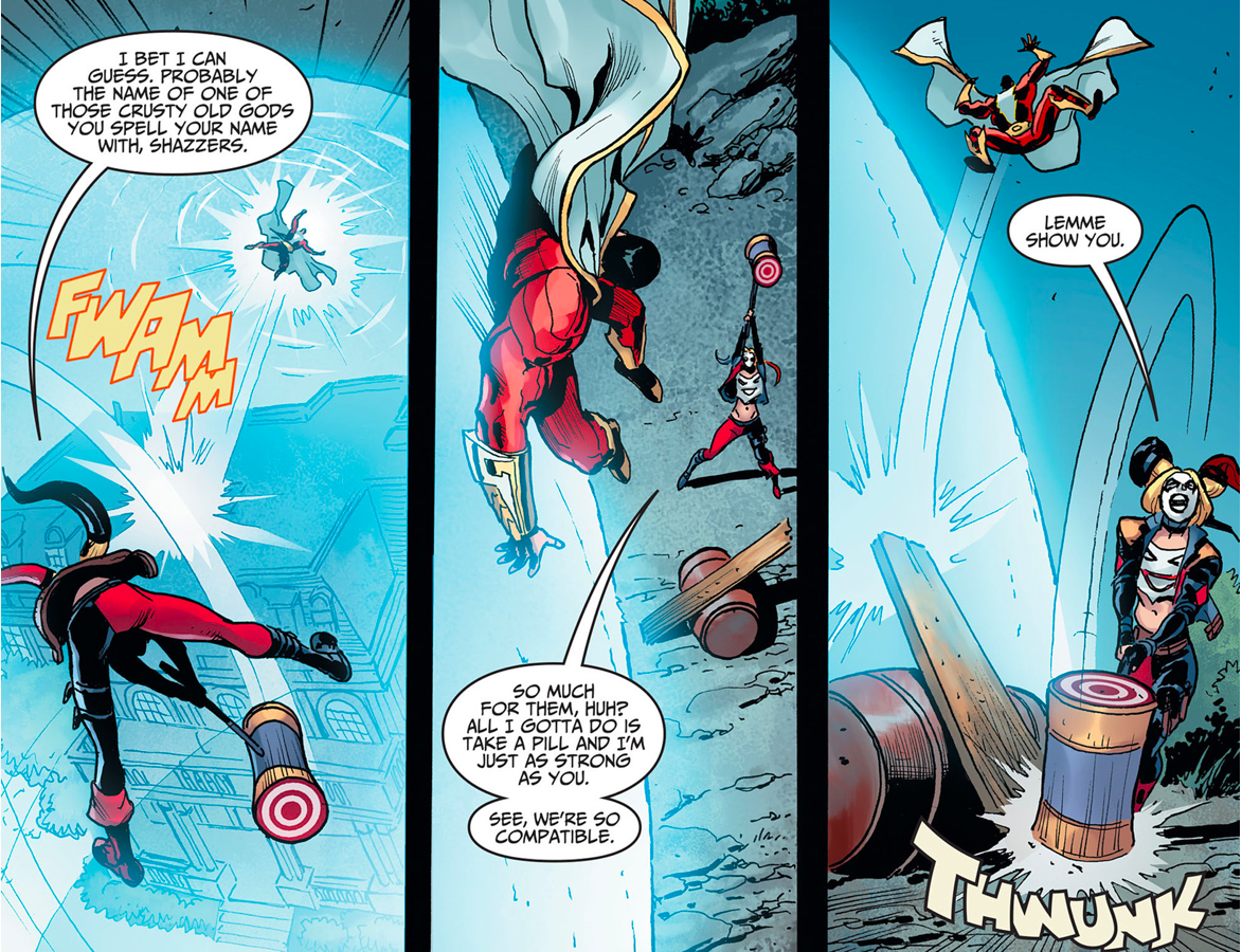 Harley Quinn Ambushes Shazzam (Injustice Gods Among Us)