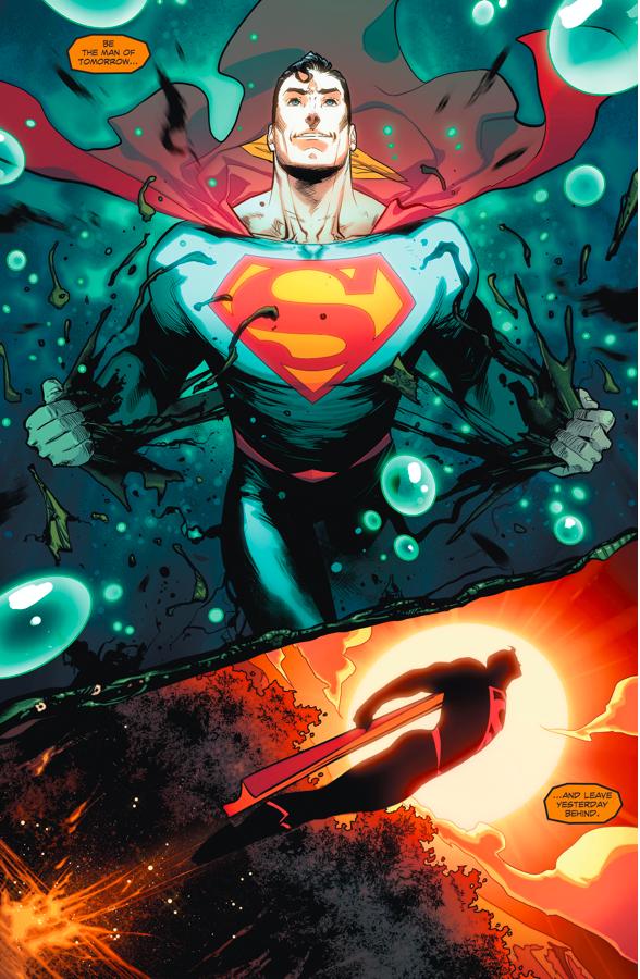 Swamp Thing Heals Superman (Rebirth)