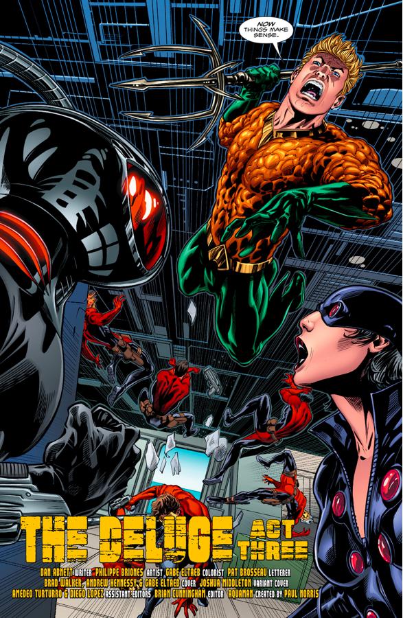 Aquaman Attacks Black Manta And N.E.M.O