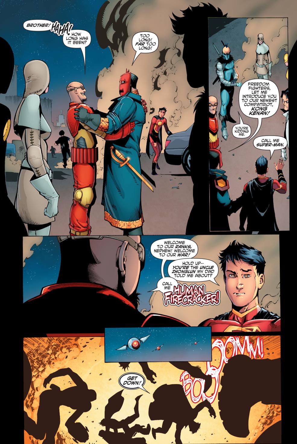Chinese Superman Meets Human Firecracker