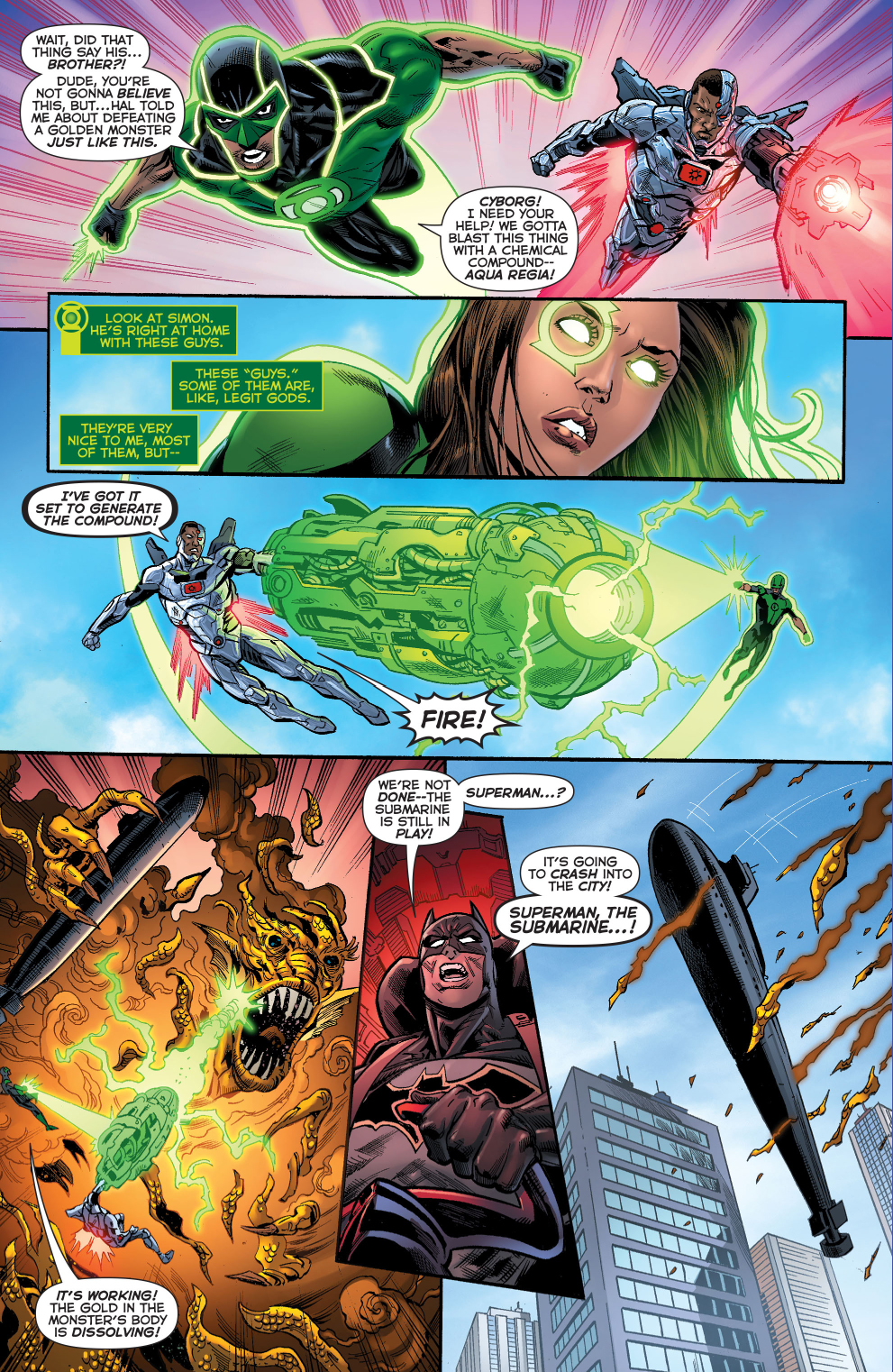 the-justice-league-vs-a-giant-golden-monster