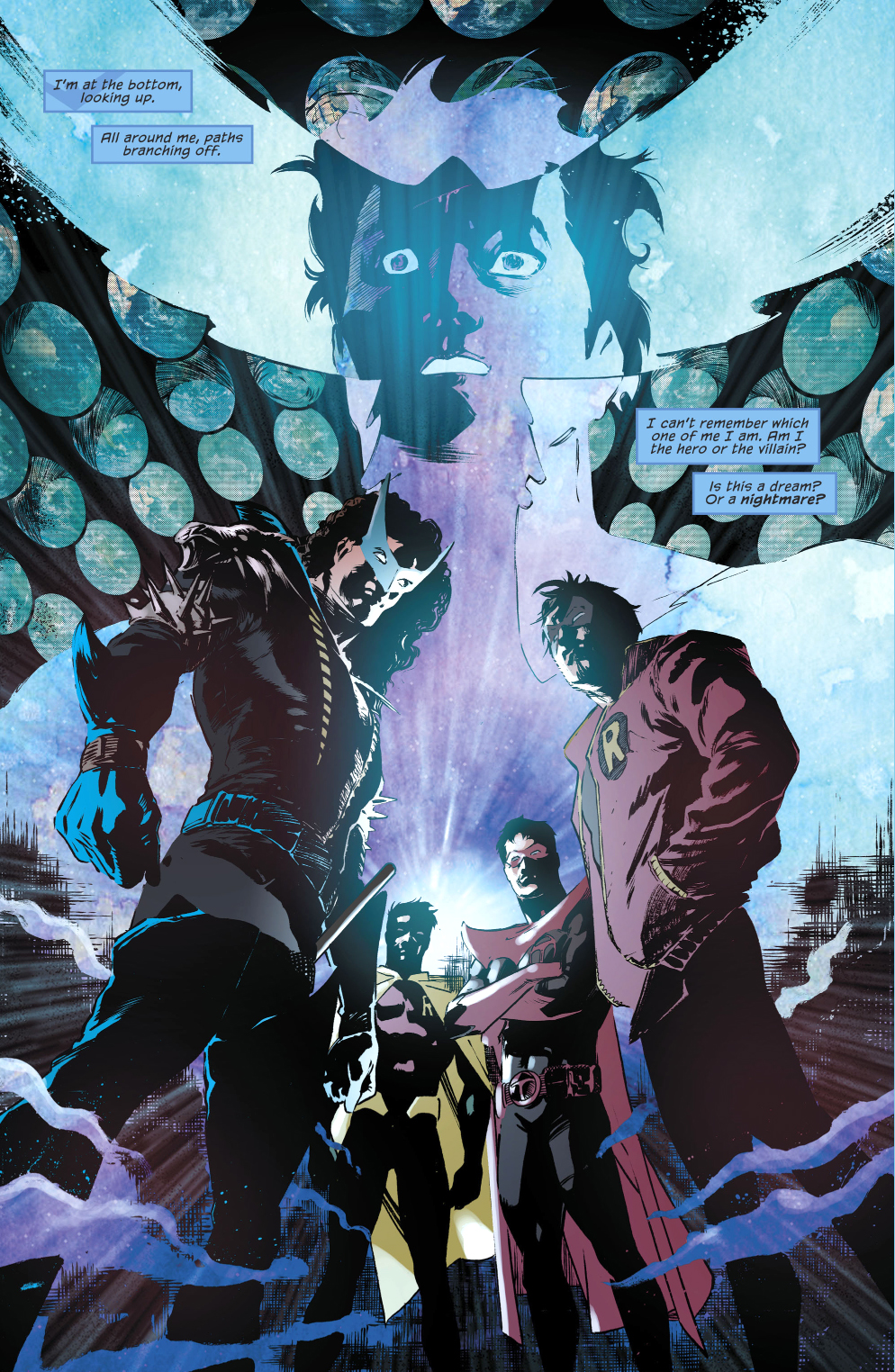 Nightwing Halluciinates About The Robins