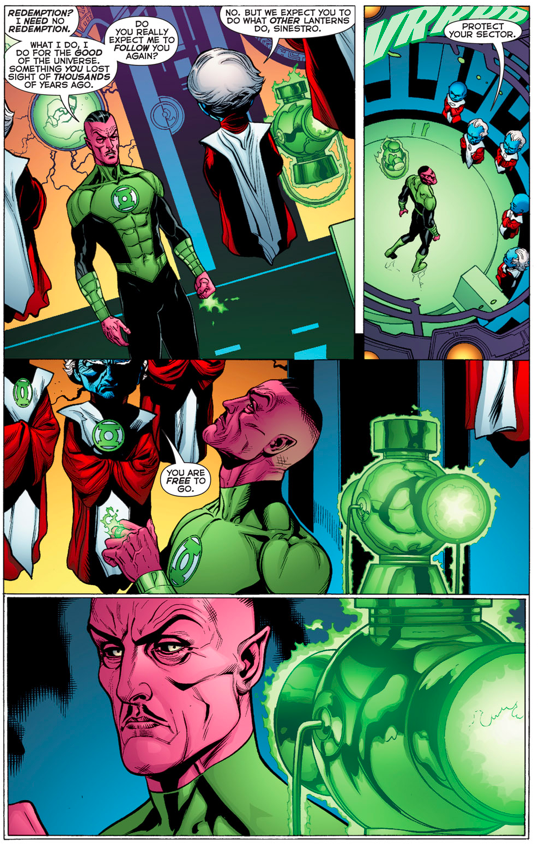 Sinestro Returns As A Green Lantern