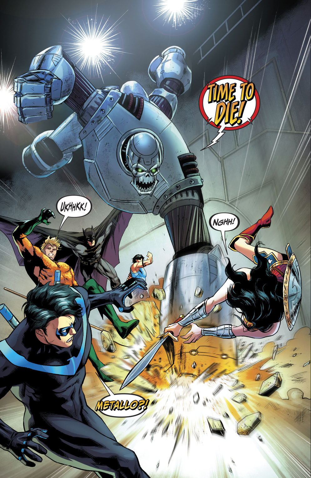 Justice League And Titans VS Metallo Copy