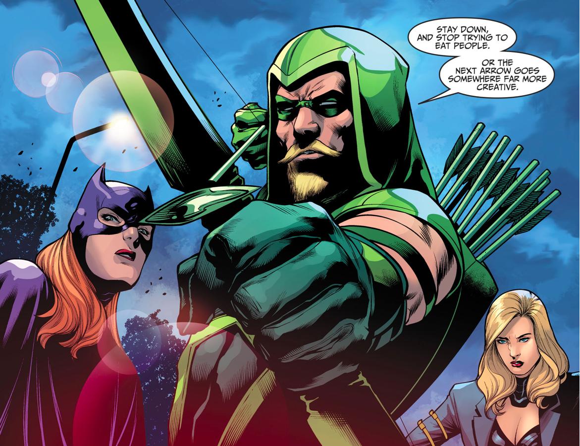 Batgirl, Black Canary And Green Arrow VS Killer Croc (Injustice II)