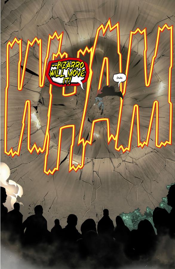 Bizarro Destroys A Mountain (Rebirth)