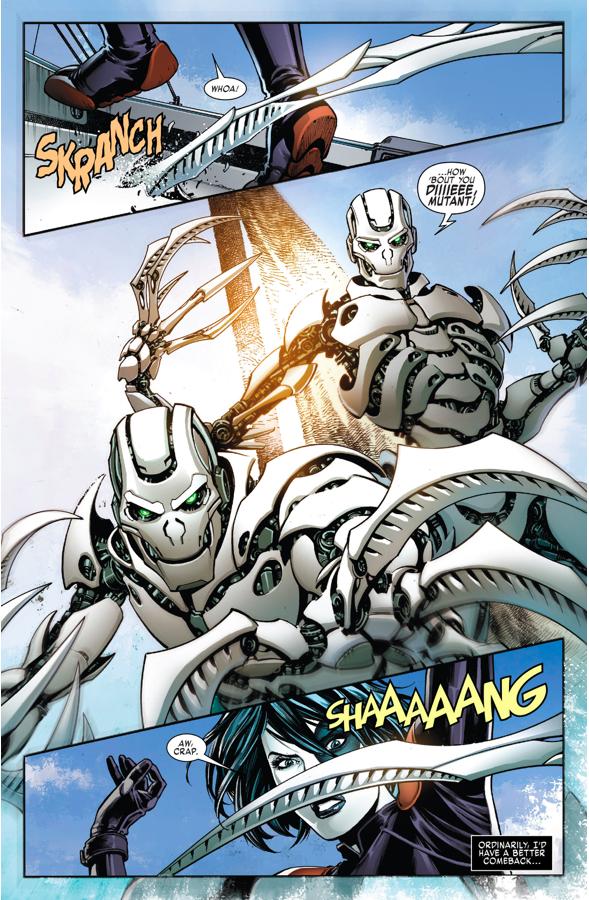 Domino VS Adamantium Cyborgs