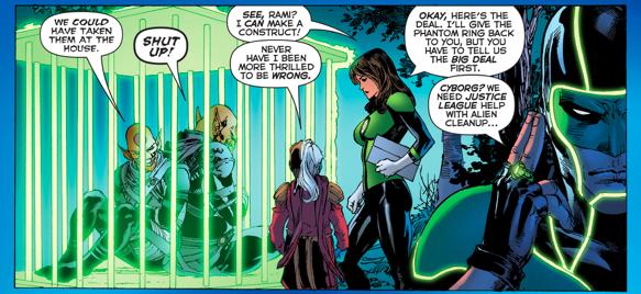 Green Lantern Jessica Cruz Takes Down The Dominators