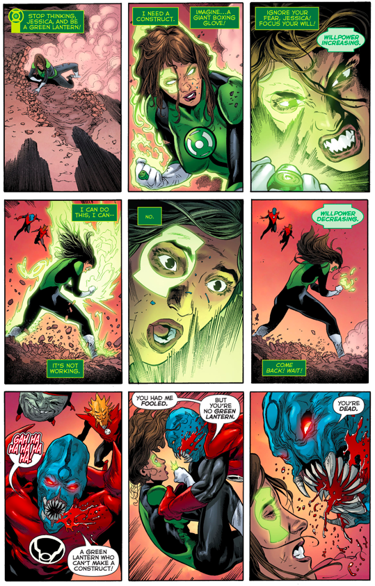 Green Lantern Jessica Cruz VS The Red Lantern Corps