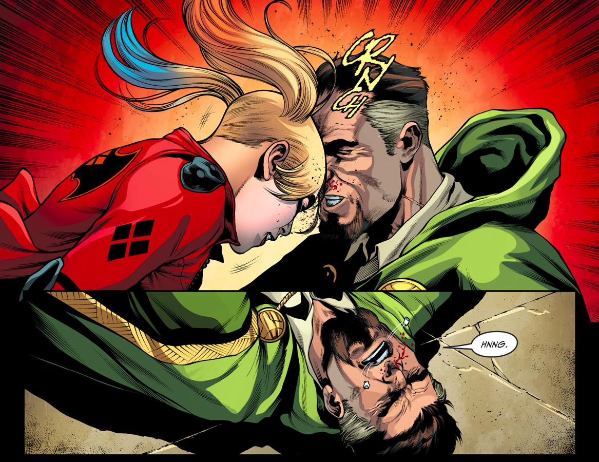Harley Quinn Head Butts Ra's al Ghul (Injustice II)