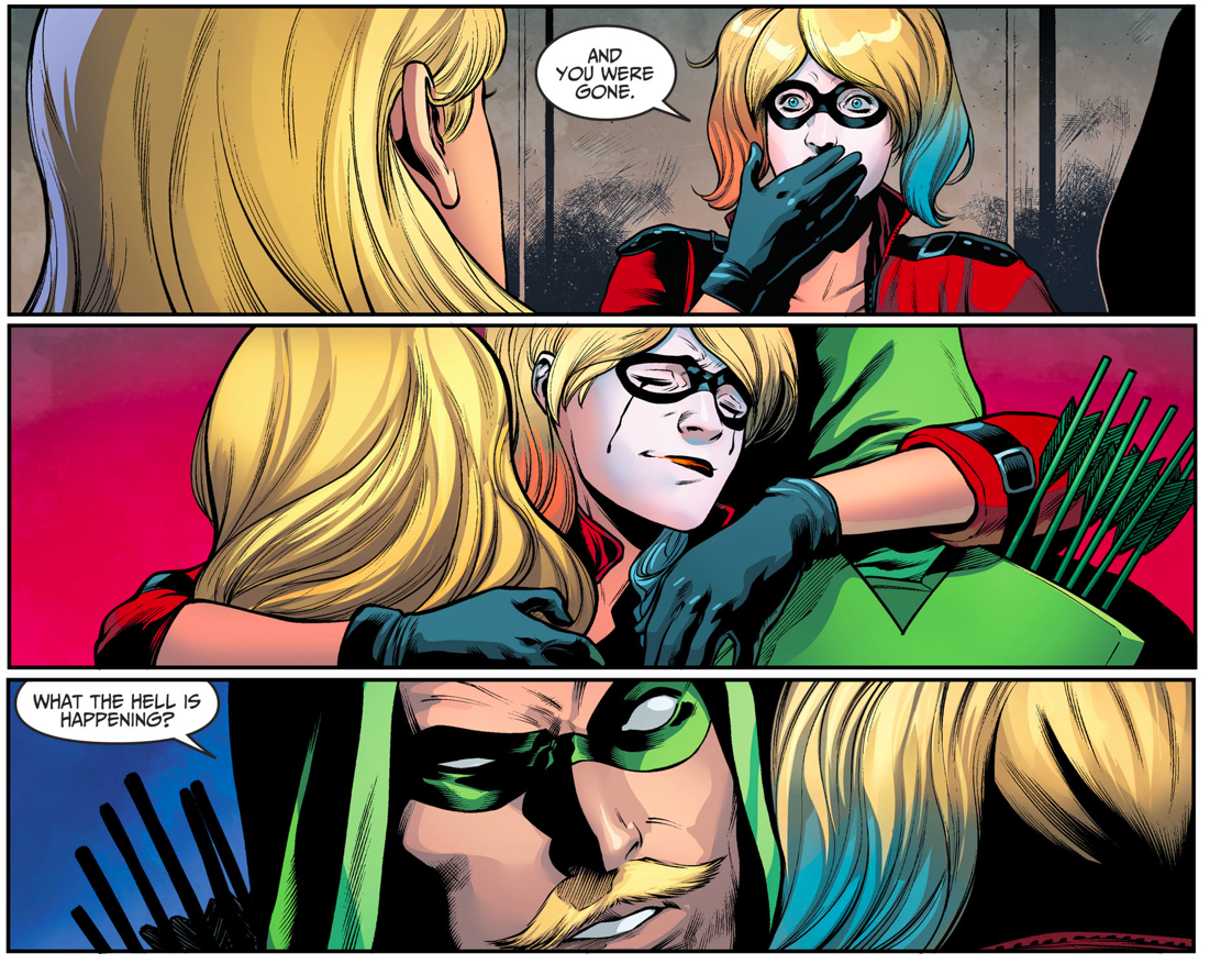 Harley Quinn's Reunion With Green Arrow And Black Canary (Injustice II)