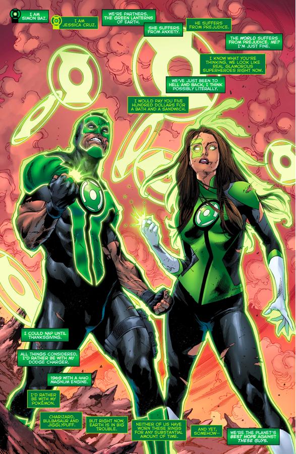 Jessica Cruz And Simon Baz (Green Lanterns #5)