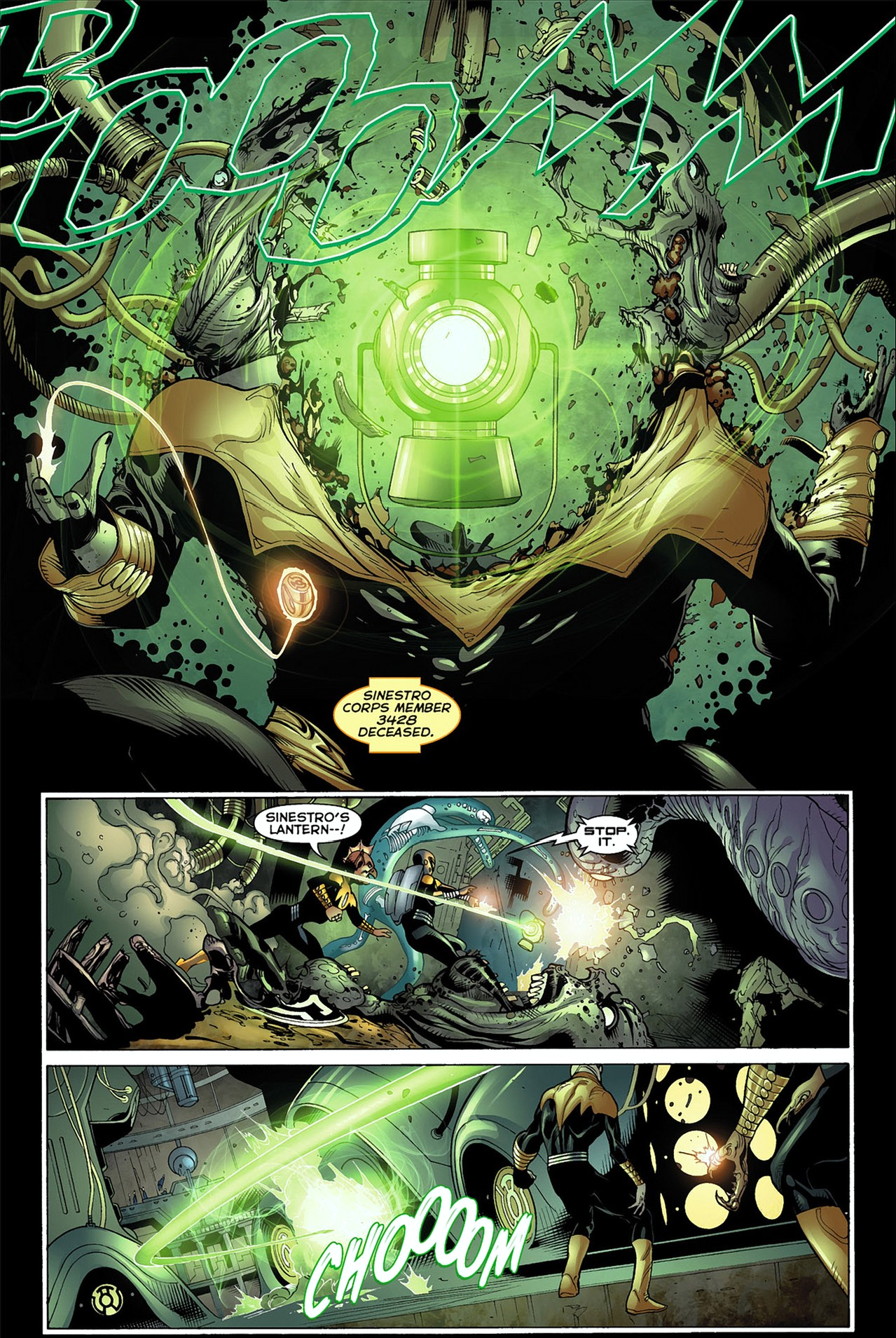 Sinestro's Green Lantern Power Battery Can Kill