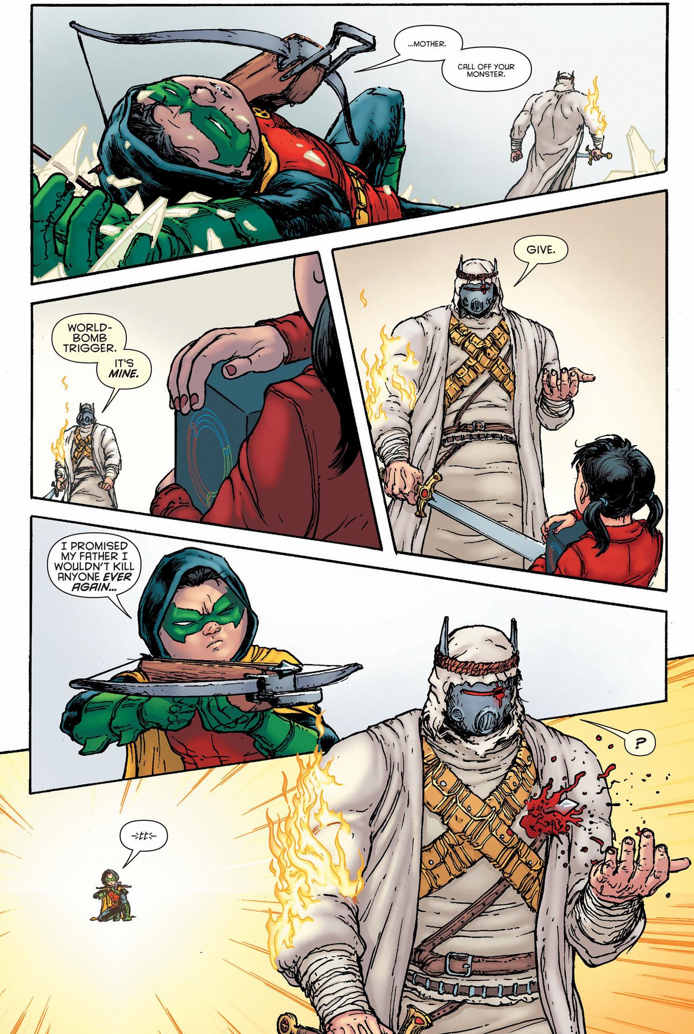 The Heretic Kills Robin (Damian Wayne)