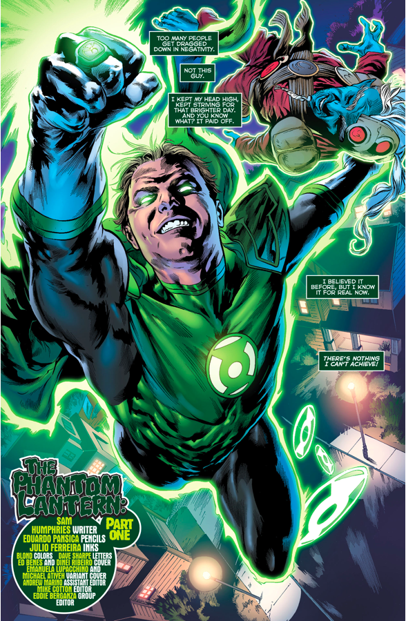 The Phantom Lantern As A Green Lantern (Green Lanterns #10)