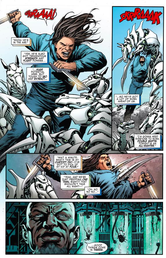 Warpath VS Adamantium Cyborgs