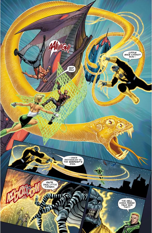 Green Lantern Corps And Sinestro Corps VS Bolphunga
