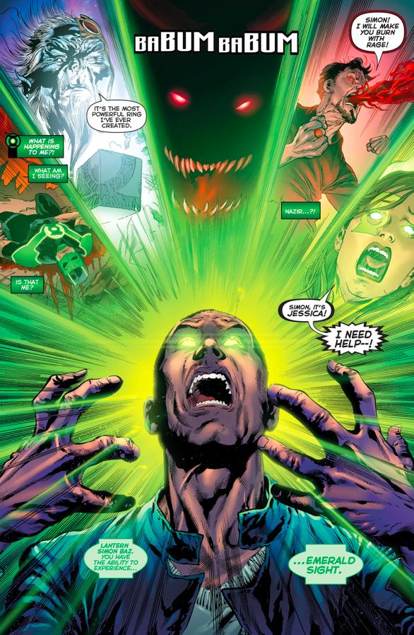 Green Lantern Simon Baz Has Emerald Sight