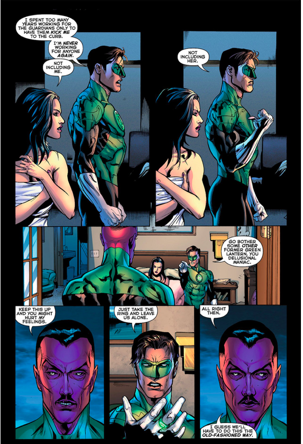 Hal Jordan VS Sinestro (Green Lantern Vol. 5 #7)