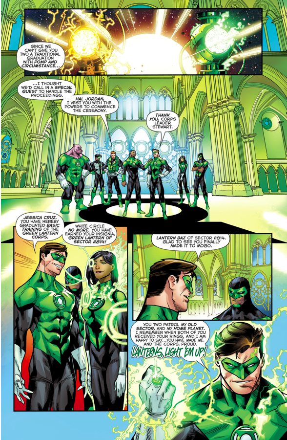 Jessica Cruz And Simon Baz Graduation Ceremony As Green Lanterns