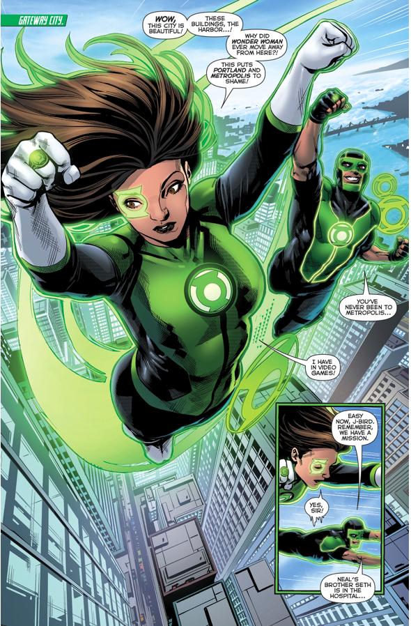 Jessica Cruz And Simon Baz (Green Lanterns #20)