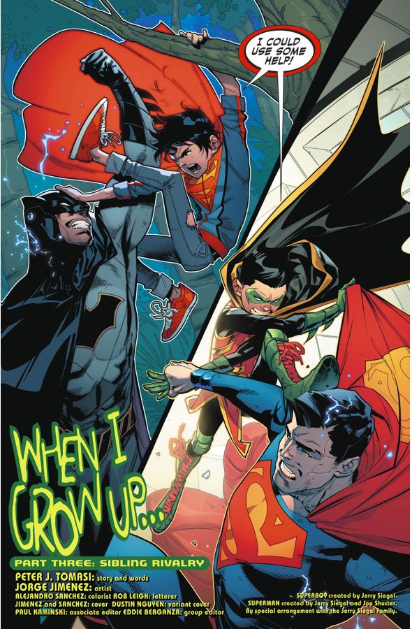 Superboy And Robin VS Superman/Batman Androids