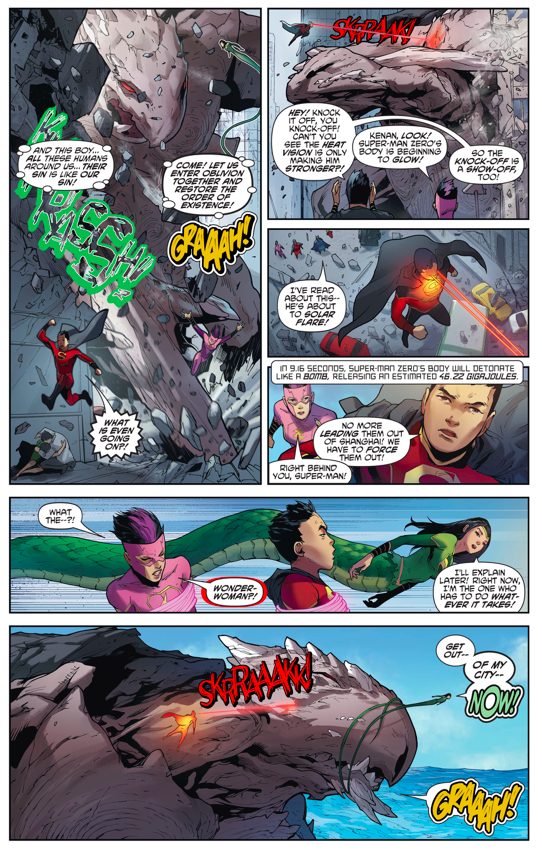 Superman Zero's Solar Flare Against Monk Fahai