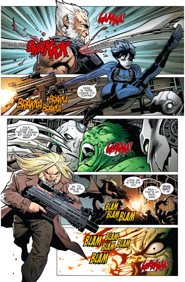 Totally Awesome Hulk VS Adamantium Cyborgs