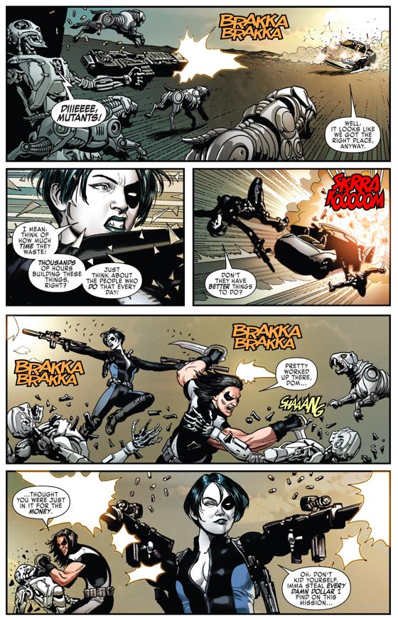 Domino And Warpath VS Adamantium Cyborgs