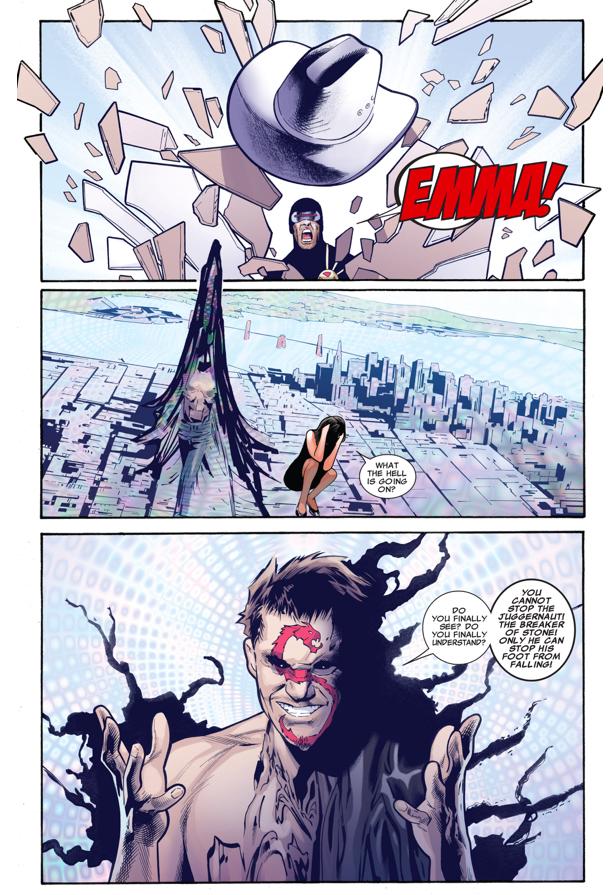 Emma Frost Attacks Kuurth Telepathically (Fear Itself)