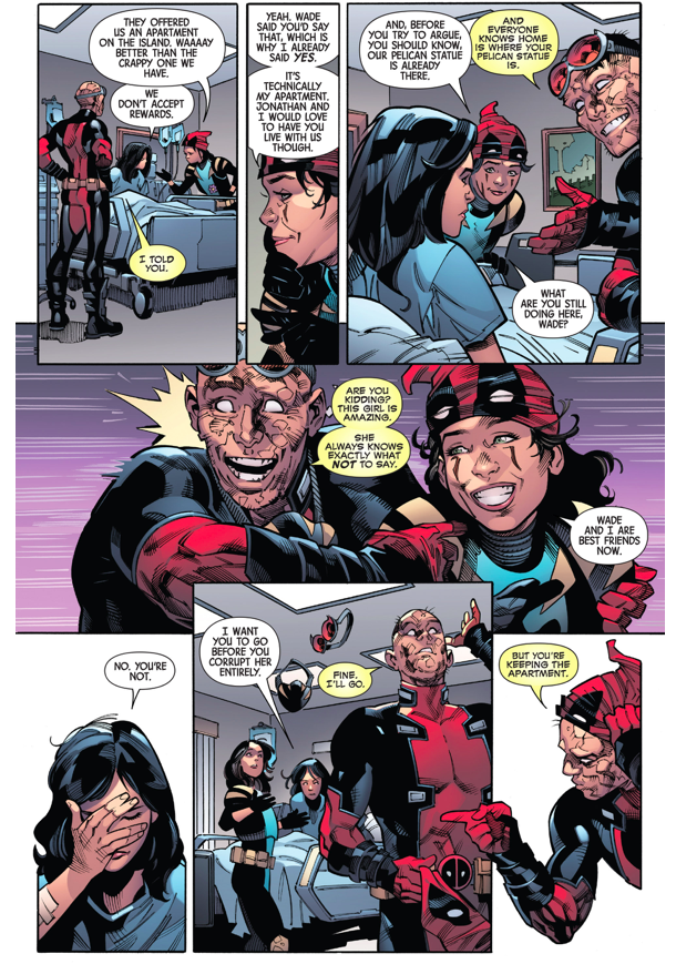 Gabby Gives Deadpool The Middle Finger 1
