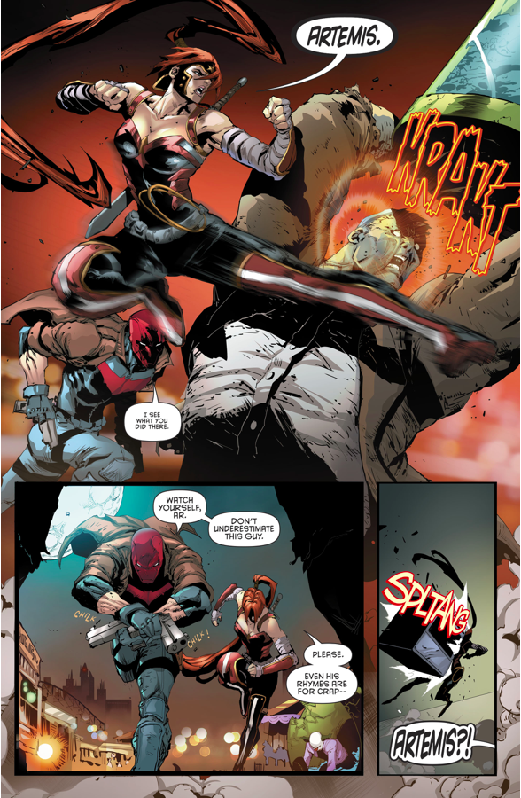 Red Hood And Artemis VS Solomon Grundy (Rebirth)
