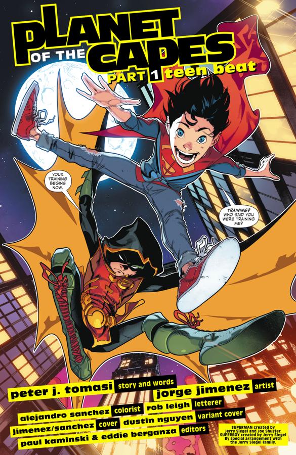 Robin Takes Superboy On Patrol (Rebirth)