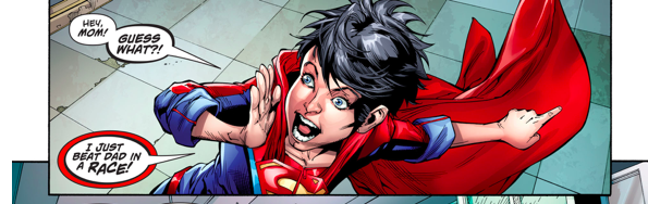 Superboy Beats Superman In A Race (Rebirth)