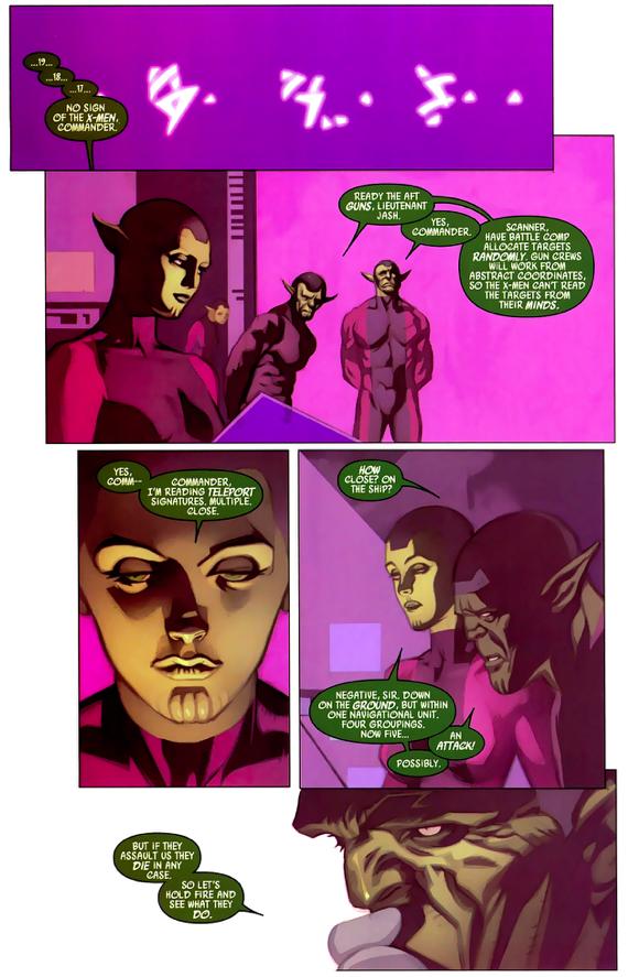 The X-Men Surrenders To The Skrulls