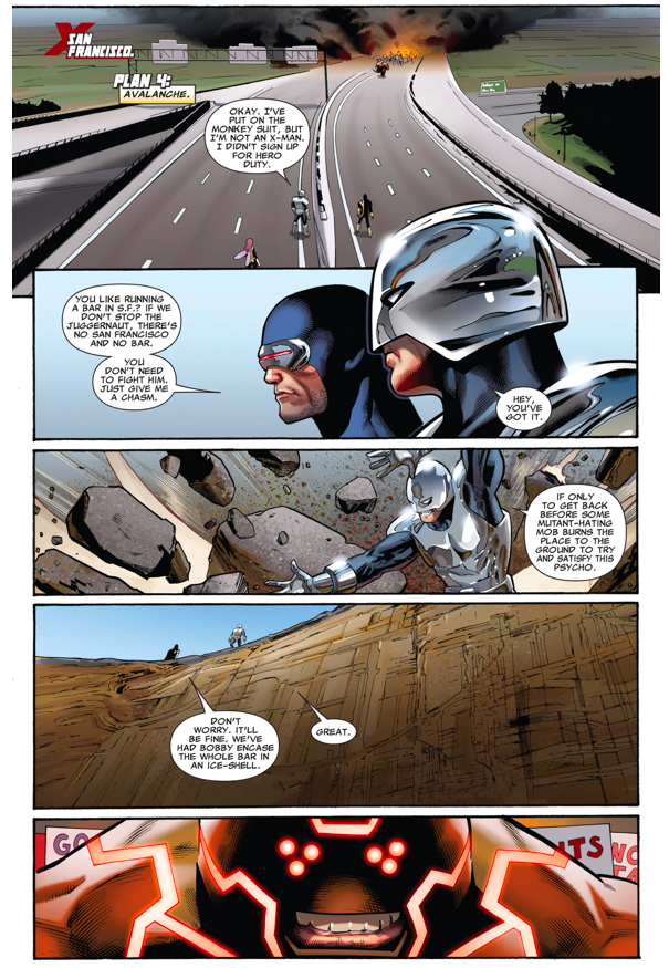 The X-Men Trying To Stop Kuurth (Fear Itself)