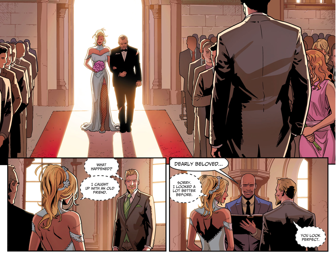Wildcat Walks Black Canary Down The Aisle (Injustice II)